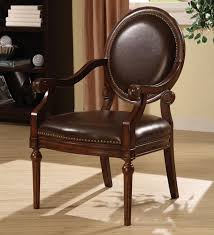 Nailhead Accent Chair Leather Accent Chairs With Arms Living Room Cintascorner Leather