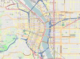 a map of portland oregon file downtown portland png wikimedia commons