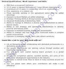 monsanto africa licensing lead vacancy in south africa or kenya
