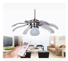 Modern Ceiling Fan With Light And Remote New 42inch K9 Led Fan Lights Ceiling Fan Modern Minimalist