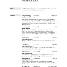 foreman carpenter construction worker resume template free for