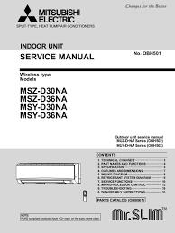 mitsubishi electric air conditioner service manual air