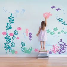 under sea wall decals sea aquarium marine life and playrooms