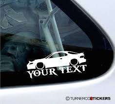 toyota celica custom 2x custom your text lowered car stickers toyota celica t180 st