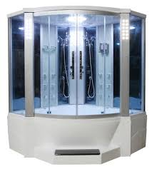 Bath Vs Shower Eagle Bath Sliding Door Steam Shower Enclosure Unit Bathtubs Plus