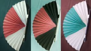 Decorated Paper How To Make A Chinese Fan Diy Decorated Paper Fan Backdrop Origemi