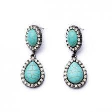 teardrop stud earrings turquoise teardrop dangle statement stud earrings