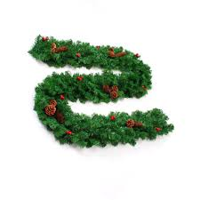 2 7m thick garland artificial vine rattan with mixed pine cones