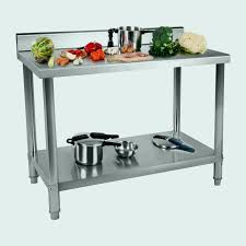cuisine inox pas cher etagere inox cuisine best of table de travail 100 60 cm avec rebord