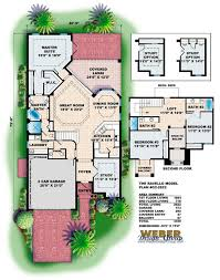 Ravello House Plan Mediterranean Villa Home Plan Florida Style