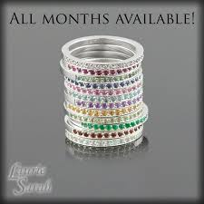 mothers rings stackable set of three birthstone mothers rings with milgrain