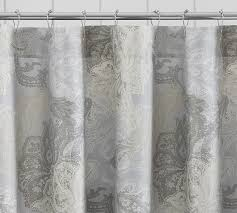 Paisley Shower Curtains Willow Paisley Shower Curtain Pottery Barn