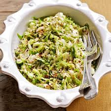cold brussels sprout slaw with toasted benne seeds recipe