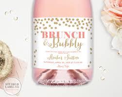 bridal brunch favors bridal shower chagne labels wedding wine labels brunch