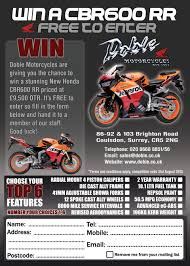 new honda cbr 600 win a cbr600rr in our free to enter competition doble motorcycles