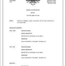 Elegant Resume Templates Reverse Chronological Template U2013 Elegant Resume Templates