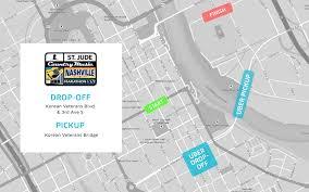 Downtown Nashville Map Uber U0027s Got Your Back On Marathon Weekend