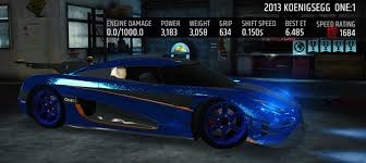 koenigsegg blue koenigsegg one 1 maxed various colors available u2013 racing rivals