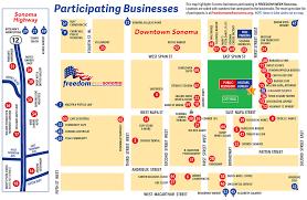 Sonoma California Map 2016 Participants