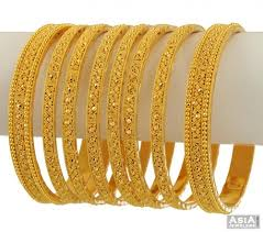 wedding gold set indian bridal bangles set 8 pcs asba53756 22k gold indian