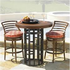 3 Piece Bar Height Patio Set Outdoor Pub And Gathering Height Dining Sets Store