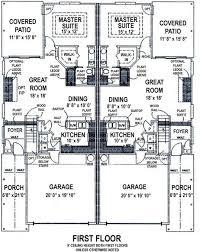 duplex plans with garage in middle duplex beach plans home decor