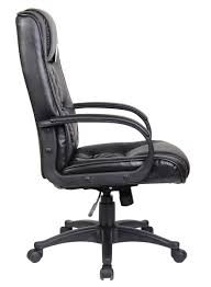 Office Chair Side View Swivel Leather Executive Office Furnitue Computer Desk Office