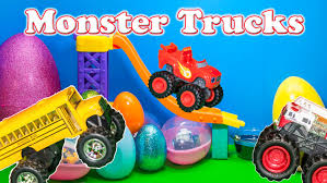 monsters truck videos monster trucks surprise eggs blaze and the monster machines