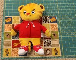 daniel tiger plush toys stuffed animal or doll sleeping bag tutorial child at heart blog