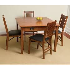 Mission Style Dining Room Sets The Mission Style Console To Card To Dinner Table Hammacher
