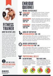 fitness trainer resume resume inspiration pinterest creative