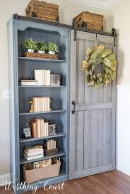 Office Bookcases With Doors The Evolution Of A Farmhouse Style Home Office Before And After