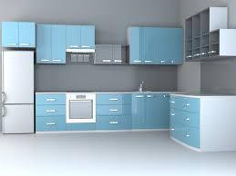 Kitchen 3d Design Fashion Blue Kitchen Design 3d Model 3dsmax Wavefront 3ds Files