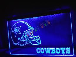 dallas home decor 2017 ld317 b dallas cowboys helmet nr bar neon light sign home