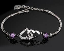 bracelet fine images Fine bracelet jewelry natural purple aaa austrian crystal jpg