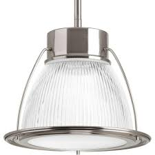 Brushed Nickel Glass Pendant Light Progress Lighting 1 Light Brushed Nickel Integrated Led Mini