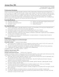 Job Resume Examples 2014 by Professional Neonatologist Pediatric Physician Templates To