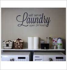 Laundry Room Hours - laundry vinyl decal large vinyl wall decal self serve laundry open