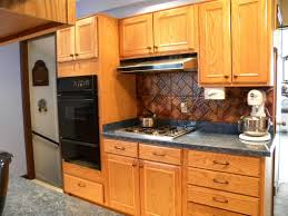 awesome copper backsplash tile also compact kitchen cabinet
