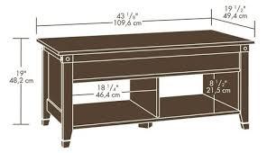 cherry lift top coffee table sauder carson forge washington cherry lift top coffee table at menards
