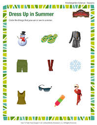 dress up in summer u2013 free science printable worksheets and pdfs