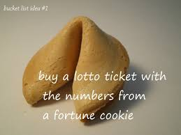 fortune cookies where to buy on my list buy a lotto ticket with the numbers from a