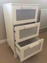 ikea chest of 3 drawers aneboda white very good condition