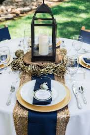 Navy Blue Table Runner Blue And Gold Table Runner Table Designs