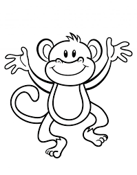 coloring pages amusing baby monkey coloring pages printable