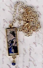 fashion pendant necklace images Fashion print pendant necklace the marble faun books gifts jpg