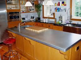 zinc countertop on a traditional kitchen island dream kitchen