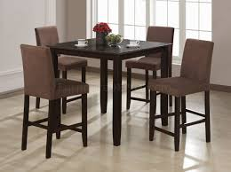 finish contemporary counter height 5 pc dinette set