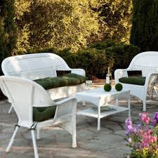 White Wicker Patio Furniture Sets  Treatment White Wicker Patio - White wicker outdoor furniture