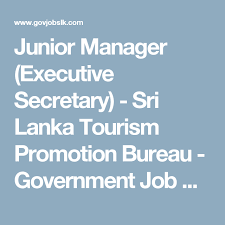 government bureau junior manager executive sri lanka tourism promotion